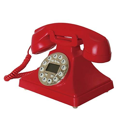 Yxyxml Archaize Rotary Dial Creative Fashion Hotel Oficina Uso Tarjeta Vintage Retro Teléfono inalámbrico Fijo (Color : Red): Amazon.es: Hogar