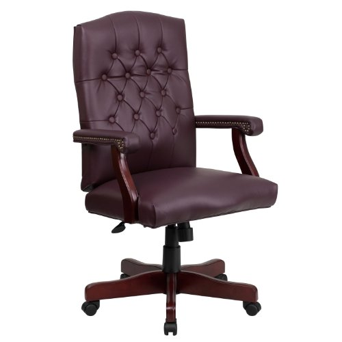 Flash Furniture Martha Washington Burgundy LeatherSoft Executive...