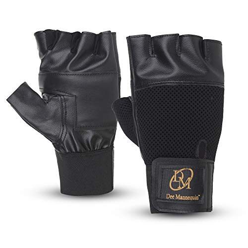Dee Mannequin 786 Leather Gym Gloves (Black)…