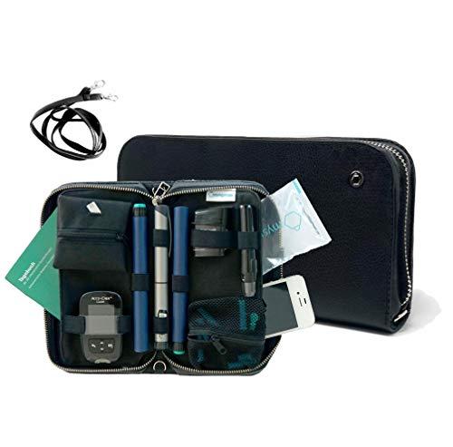 COMBI mysugarcase - Premium Diabetes Zubehör Tasche - inklusive Gurt & CoolPack - Black