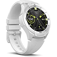TicWatch S2 Waterproof Smartwatch with Built-in GPS 24h Heart Rate Monitoring, Wear OS by Google (Glacier White)