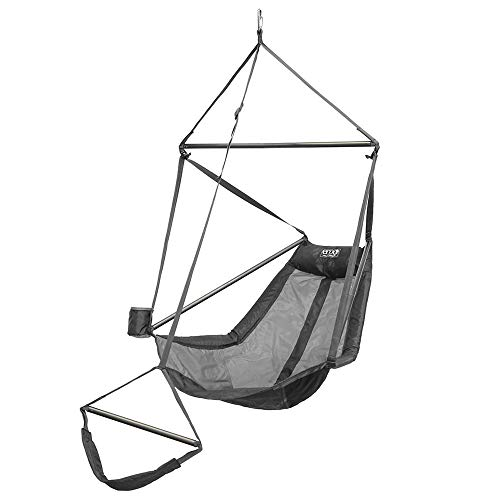 ENO - Eagles Nest Outfitters Lounger Hanging Chair, Grey/Charcoal