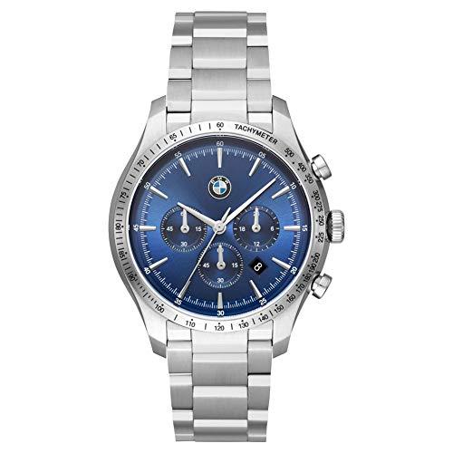BMW Reloj Cronógrafo para Hombre de Cuarzo con Correa en Acero inoxidable BMW8001