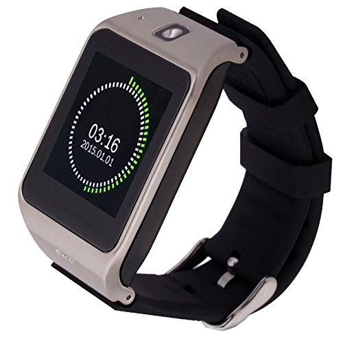 OPNIGHDYMD Smart Watch Voll-Touchscreen Sportuhr 1,55 Zoll kapazitiver Touchscreen Uhrentelefon, Unterstützung Fitness-Funktion/Schrittzähler/Sitzende Erinnern/Schlaf-Monitor/NFC/GSM