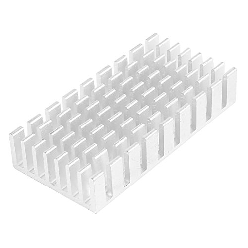 sourcingmap Aluminium 50x25x10mm Dissipateur Refroidissement radiateur Fin Argent