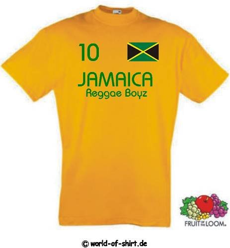 world-of-shirt Herren T-Shirt Jamaica Reggae Boyz im Trikot Look