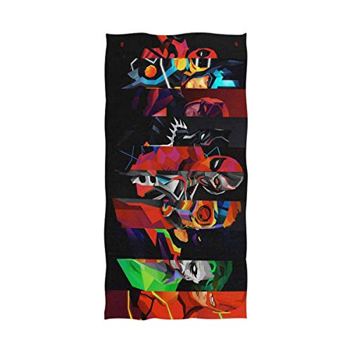 FETEAM Colores creativos Superhéroes Arte Toalla de baño Toalla de Playa Uso como Yoga Viajes Camping Gimnasio Toallas de Piscina en Carrito de Playa Sillas de Playa Talla única