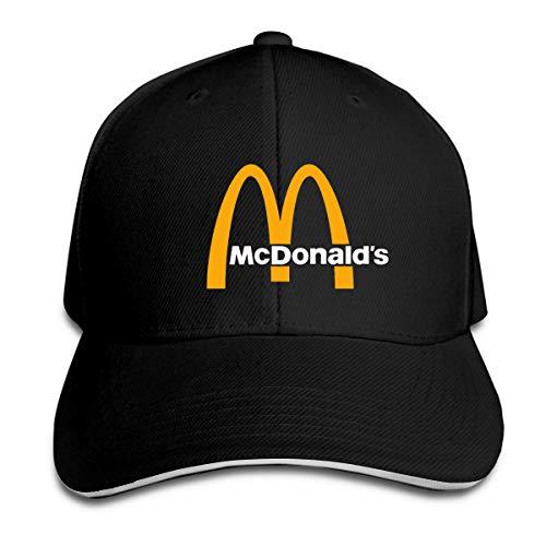 N / A McDonalds - Cappello da baseball in poliestere, unisex, per tutte le stagioni, comodo e traspirante Nero Taglia unica