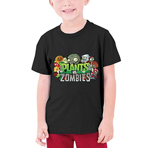 AHHACHI Tees Unisex Plants vs Zombies Youth Tee T Shirt Large Black