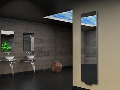 Badheizkörper Design Montevideo 3, HxB: 180 x 47 cm, 1118 Watt, Spiegel (Marke: Szagato) Made in Germany/Bad und Wohnraum-Heizkörper (Mittelanschluss)