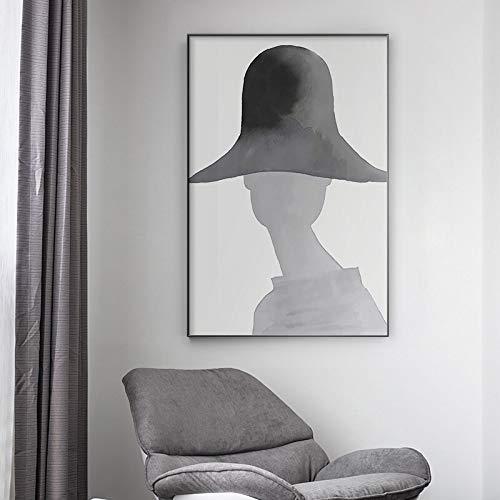 KWzEQ Tinta Moderna Chica Elegante Poses Lienzo Arte Moda Personaje Carteles e Impresiones decoración de la Sala de estar60X90cmPintura sin Marco