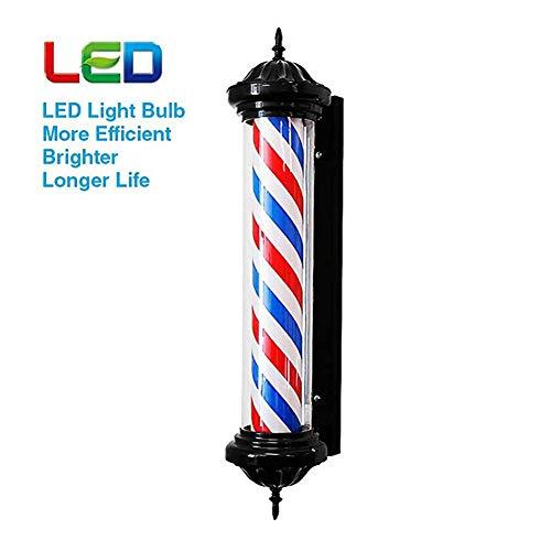 FJY LED Pole Illuminating Barbiers Rotating Salon de Coiffure Signe Rouge Blanc Big Très léger imperméable Lampe Murale économie d'énergie, 70cm / 28in