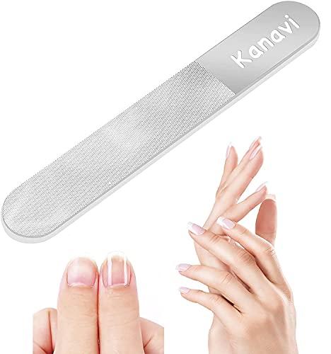 【2021年改良版】Kanavi 爪やすり 爪磨き ガラス製 (ラウンド型)