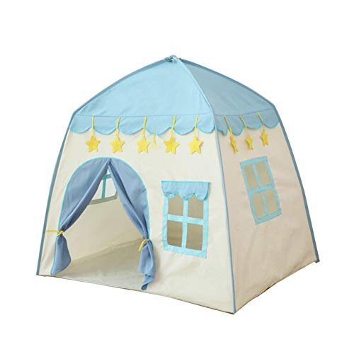 Prinzessinnenschloss Spielzelt, Kinder-Tipi-Zelt, Tragetasche, tragbares Spielhaus, großes Spielhaus, Kinderschloss, faltbares Po-pUp-Spielzelt für den Innen- und Außenbereich, 130 x 100 x 130 cm
