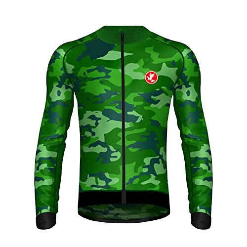 Uglyfrog HLDT06 Bike Wear Herren Langarm, Thermo-Fahrrad-Jersey, Lycra Selected Fabrics, Thermo Fleece Trikots & Shirts