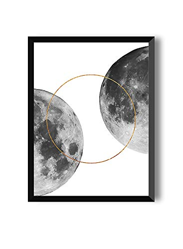 MILUKA Láminas Decorativas para enmarcar colección Moon | Full Moon Two | Tamaño 20x30cm, 30x40cm, 50x70cm (20 x 30 cm)