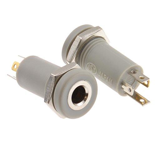 3,5 mm Klinkenstecker 4 Polig Löten Panel Montage Anschluss AV Adapter [2 Stück]