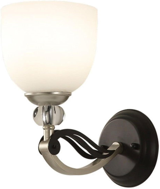 StiefelU LED Xin Yun Wandleuchten single Massivholz antike Schlafzimmer Bett hotel Gang Treppe Wandleuchten Led gelb Gurt mit 5 Watt LED-Lichtquelle