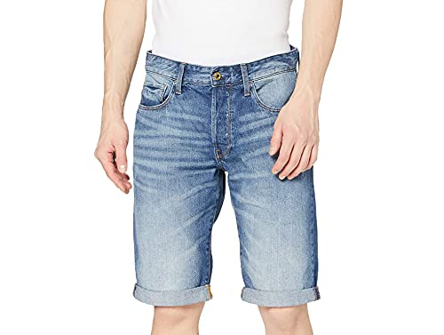 G-STAR RAW - Pantalones cortos para hombre 3301 Denim. 35