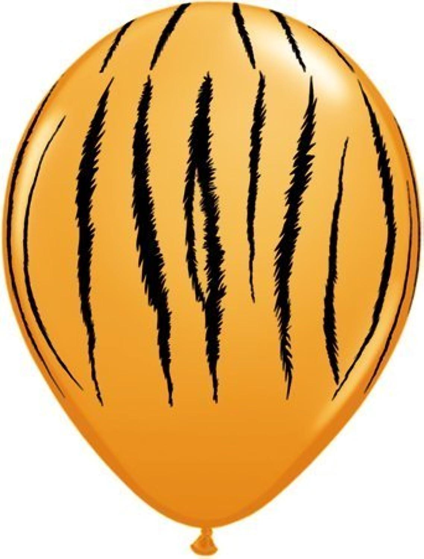 Safari Animal Tiger Print Balloons x 25  Qualatex 11  by Qualatex