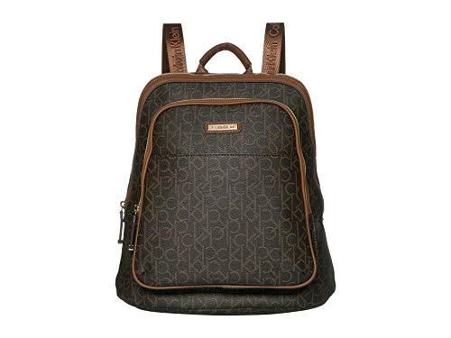 Calvin Klein Monogram Backpack Brown/Khaki/Luggage One Size