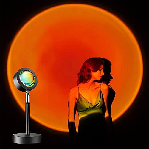 otutun Sunset Lamp , Sunset Projection Lamp rotación de 180 ° con USB , Lámpara de proyección de puesta de sol LED de ánimo visual romántico para crear Ambiente, Iluminación para Dormitorio