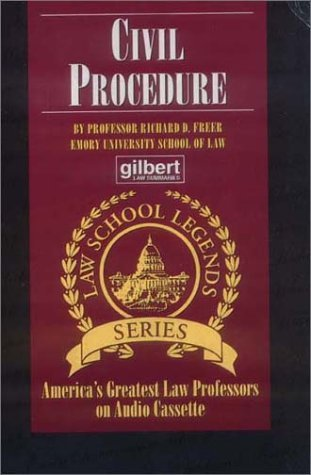 By Richard D. Freer Civil Procedure (Law School Legends Series) (3rd Third Edition) [Audio Cassette]