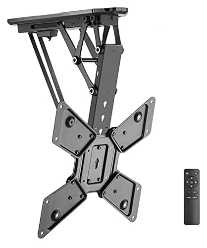 TabloKanvas TELEVISOR Soporte de Control Remoto eléctrico TELEVISOR Perching Techo Elegante Elegante TELEVISOR Stand se Adapta a la mayoría de los televisores curvos de Pantalla Plana (Color : Black)