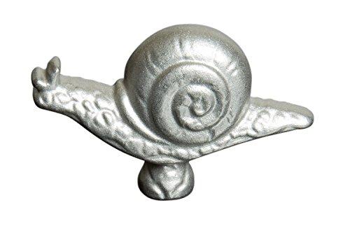 """STAUB Accessoire Bouton Animal """"Escargot"""", Acier Inoxydable, 6 x 2 x 4 cm, Gris"""