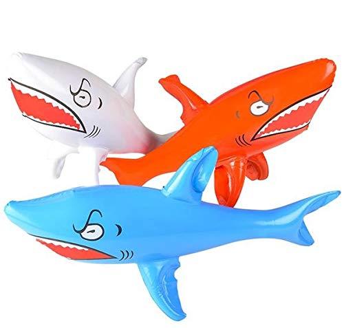 Rhode Island Novelty 24 Inch Shark Inflates Set of 3 Assorted