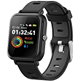DR.VIVA Smart Watch, Watch with HRV,Afib,BR,BMI,Mood for Men/Women, Fitness Tracker Supports 15 Sports Modes and Up to 7-Day Battery Life, Bluetooth Watch for Android/iOS