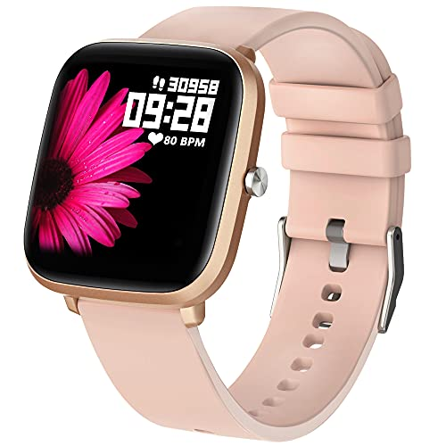 Smart Watch, HuaWise Smart Watch for Android Phones and iOS, HD Touch Smartwatch Waterproof Fitness Tracker Watch with Heart Rate, Stopwatch, Smart Watches for Men Women Compatible iPhone Samsung