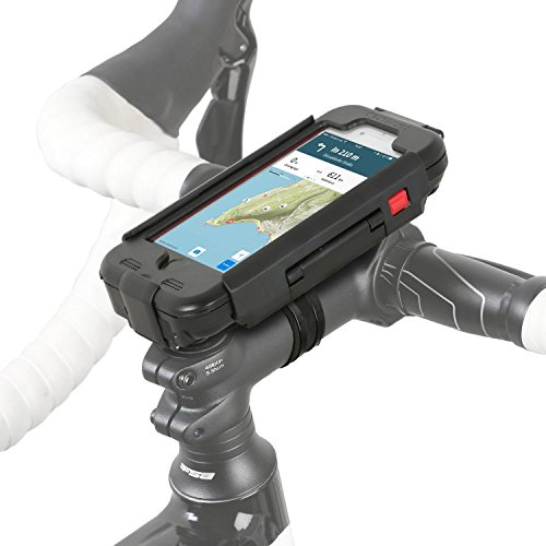 Wicked Chili RainCase Fahrrad Halterung kompatibel mit iPhone SE 2 (2020), iPhone 8 und iPhone 7 passgenaue Outdoor Hülle Schutzcase mit Regenschutz + Lenkerhalterung mit Schnellverschluss schwarz