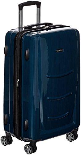 AmazonBasics Hardshell Luggage, 24', Navy Blue