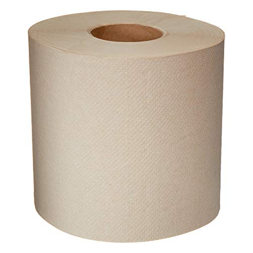 AmazonCommercial Kraft Center Pull Towels, 600 Towels per Roll, 6 Rolls