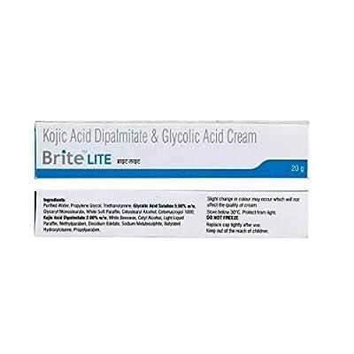 Kojic Acid Dipalmitate & Glycolic Acid Cream Skin Melasma Pigmentation Lightening Cream 20g from Brite Lite