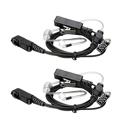 Retevis EAM003 Auricular de Vigilancia con Micrófono de Altavoz Compatible con Motorola XPR3300 XPR3500 XIR DP2400 DP2600 Walike Talkie Headset (2 Piezas)