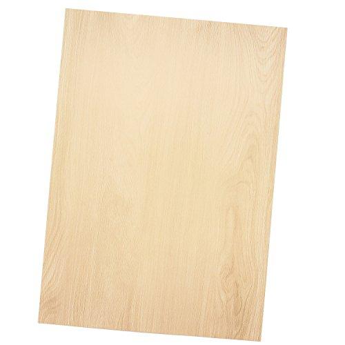 TATMOTIVE Briefpapier MADEIRA Holz-Optik - 20 Blatt - Beidseitig 90 g/qm DIN A4 Holzmaserung Holzmuster