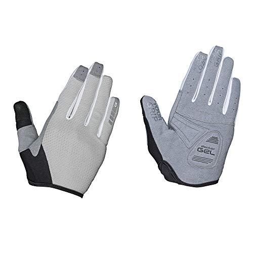 GripGrab Unisex's Women's Shark Gel-Padded Fullfinger Gravel Mountain-Bike Gloves Long Shock-Absorbing Cushioned Summer Cycling, Grey, X-Small