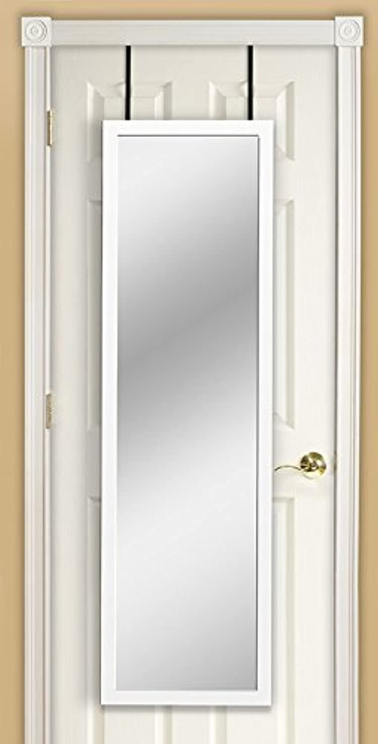 Mirredek DM1448WT Over The Door Mirror, White
