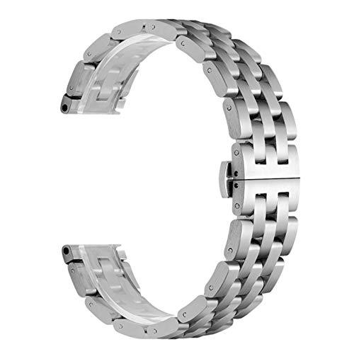 CRFYJ 20 22mm para Samsung Galaxy Watch 46mm para Galaxy Watch 3 41 Banda de Acero Inoxidable de Metal 41 45mm para la Correa GTR de Amazfit GTR para Huawei GT