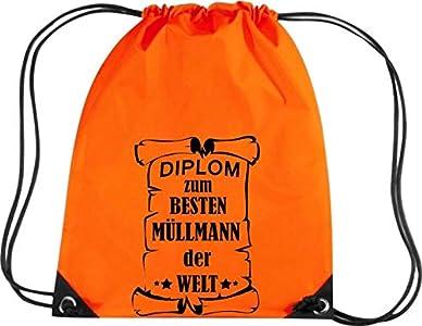 Camiseta stown Premium gymsac Diploma para mejores Muñeco de basura del Mundo, naranja