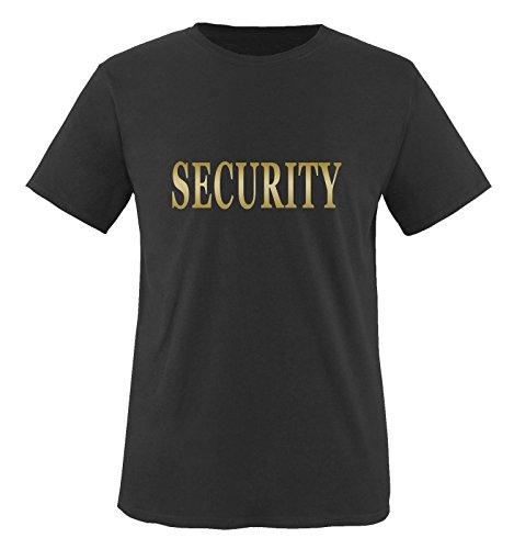 Comedy Shirts Plusieurs Coloris – Security Unisexe XL Noir/Or