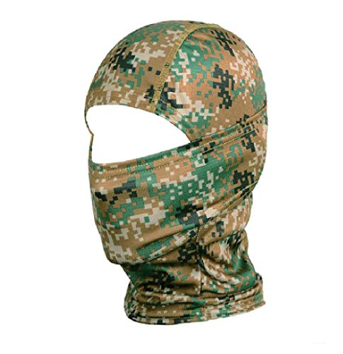 Vagabond Joes Marpat Digital Military Green Black Woodland Jungle Camouflage Camo Balaclava Tactical Hunting Face Mask