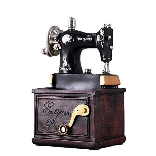 LBYLYH Máquina de Coser de Resina Vintage Bolígrafo Adornos Estatuilla Artesanías Retro Máquina de Coser de Muebles Antiguos Estatua Adornos