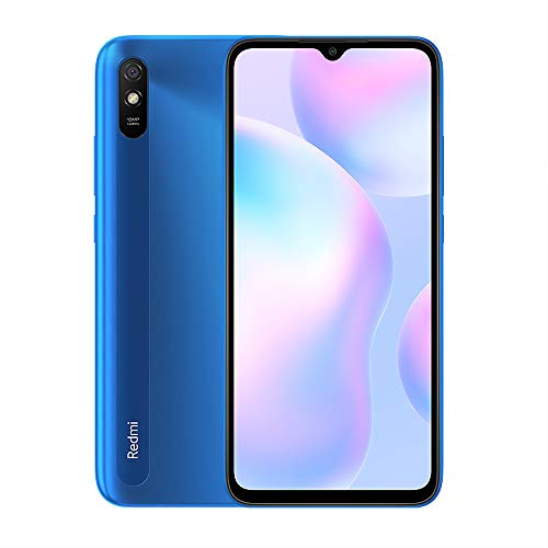 "Xiaomi Redmi 9A Smartphone 2Gb Ram 32Gb Rom Teléfono Móvil,Pantalla 6.53"" Hd+ Mtk Helio G25 Octa Core Procesador,Dual sim Micro-Sd,13 Mp Cámara Trasera Ai Face Unlock Global Versión (Azul)"