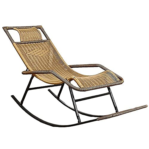 WECDS Campingstuhl, Patio Lounge Chairs Lounge Chair, Schaukelstuhl Home Adult Senior Recliner Geeignet für Balkon, Innenhof, Garten, Outdoor Nap Chair Lazy Lounge Chair Reclining Patio Chairs