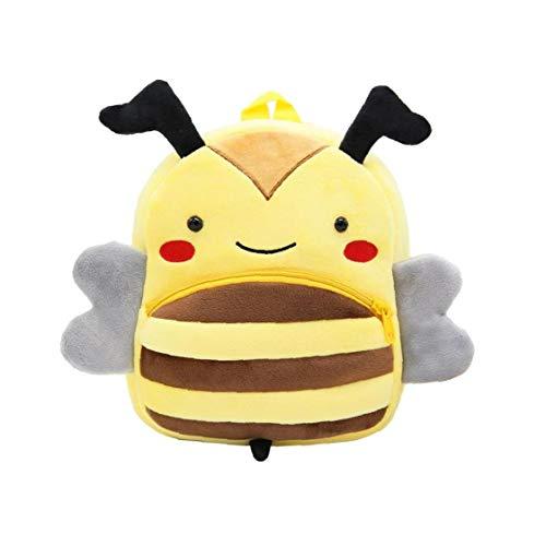 Kinderrucksack niedlichen Cartoon-Tier-Baby-Rucksack tragbaren 3D-Bee-Form-Plüsch-Rucksack Große Kapazität Spielraum-Rucksack für Kinder