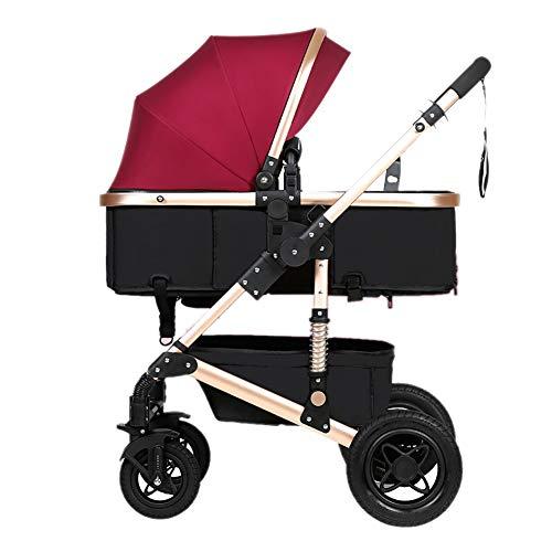 Poussettes Bébé, Pliant Léger Amortisseur Enfants Pousser des Chariots De Bébé en Acier Au Carbone Cadre Chariot Infant Sit Ou Lie
