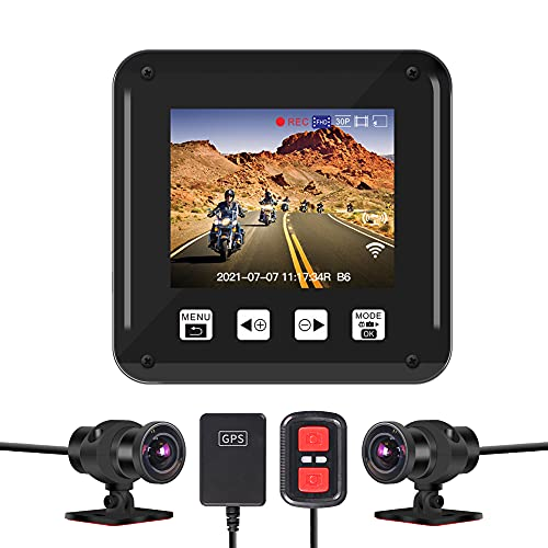 VSYSTO Motorcycle Dash Cam Dual 1080P Motorbike Camera Motorcycle Camera Front and Rear 150° Wide...
